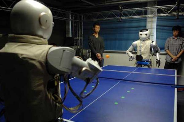 ping pong table tennis china robots robotics