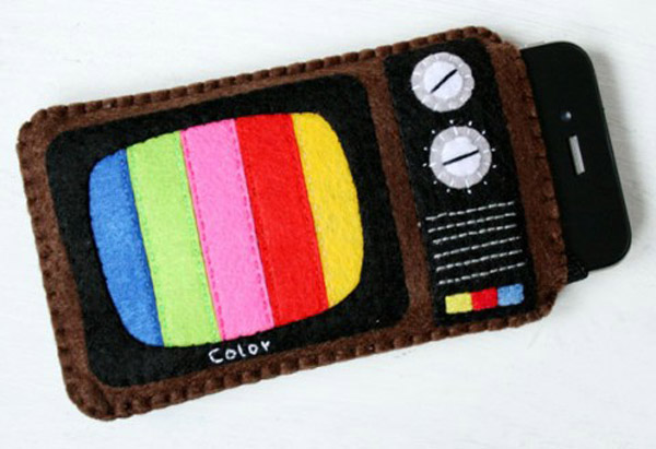dawanda tv iphone case felt