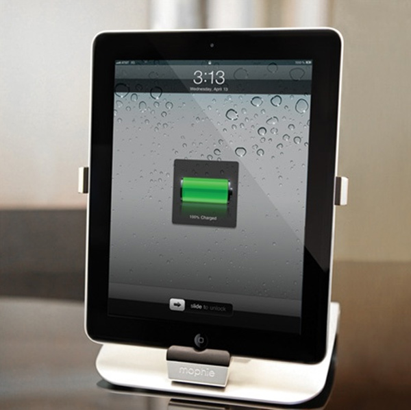 mophie powerstand ipad stand charging rotate
