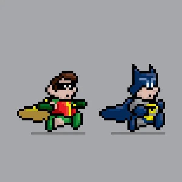 superheroes 8-bit jesus castaneda design retro video game