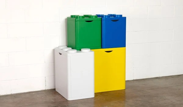 lego bins storage recycling flussocreative italian