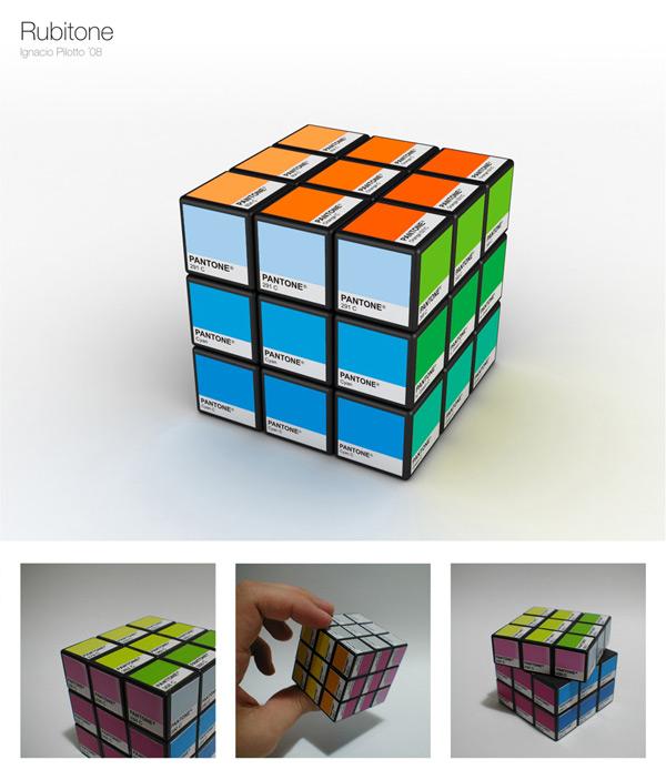 rubitone pantone rubik's cube puzzle game ignacio pilotto