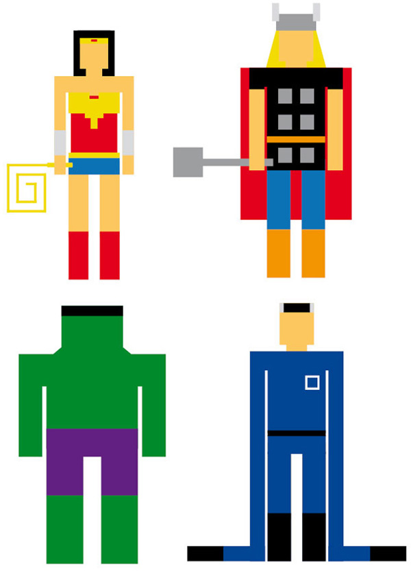Rectangle rene schiffer superheroes hulk