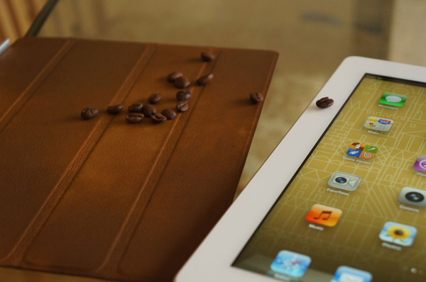coffee stained ipad smart cover