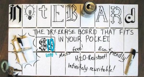 noteboard dry erase whiteboard