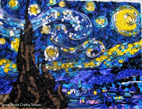 quilled starry night susan myers