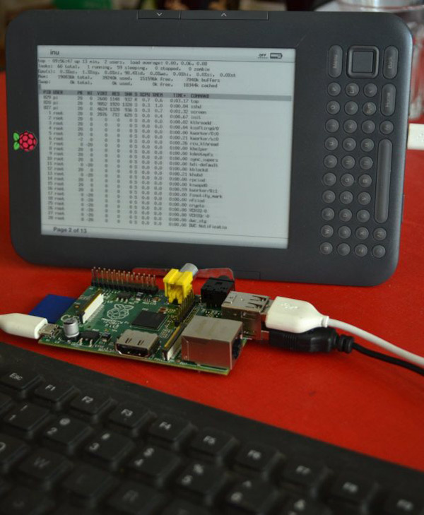 kindleberry pi kindle raspberry hack screen