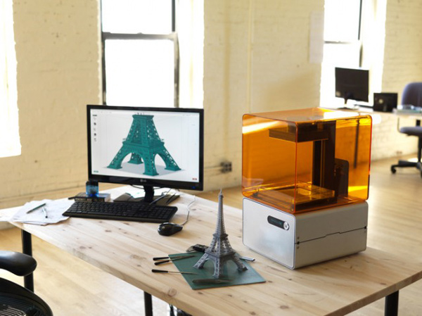form 1 formlabs 3d printer desk
