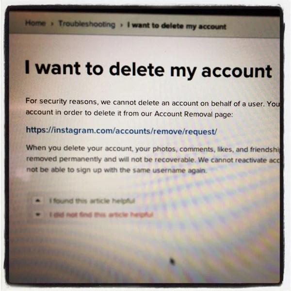 delete instagram pic