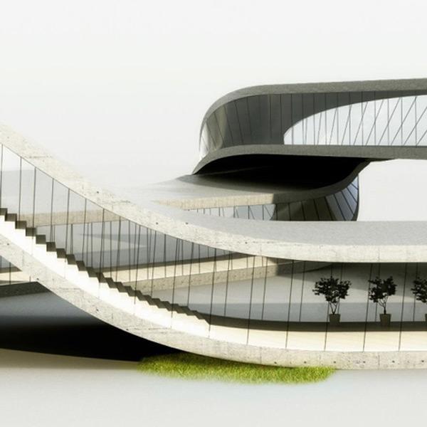landscape house universe architecture side
