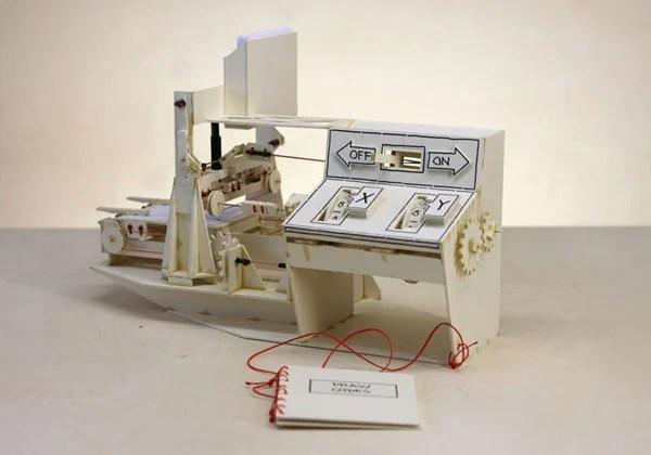 niklas roy cardboard plotter computer