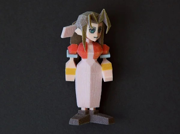 3D Printed Final Fantasy VII Characters Materia Lized