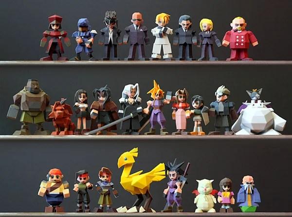 final fantasy vii 3d printed figurines by Joaquin Baldwin