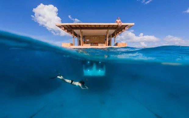 manta resort africa underwater hotel designboom 620x387