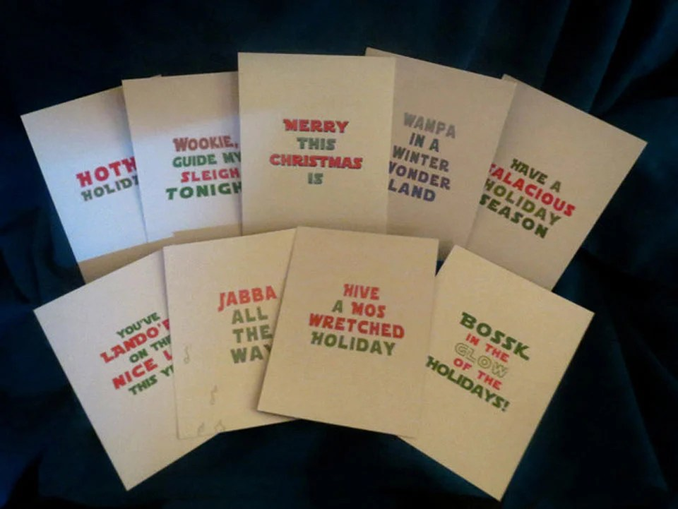 Star Wars Christmas Cards Happy Hothidays Technabob