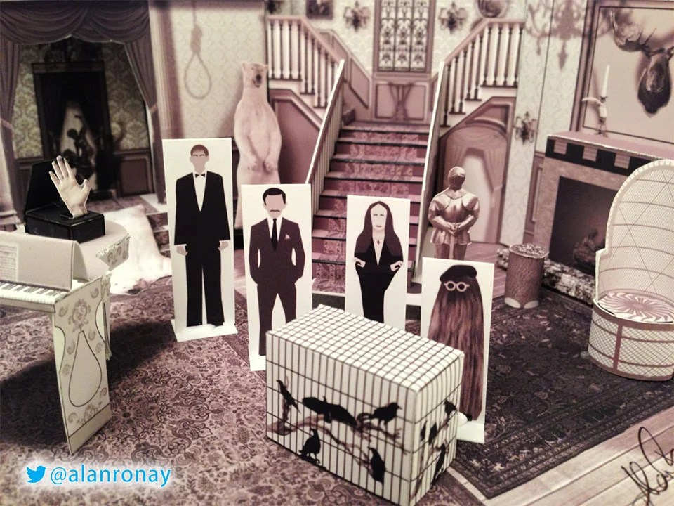 The Addams Family Papercraft House Theyre Creepy And