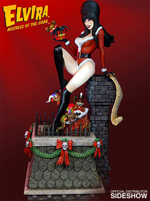 Elvira Mistress Of The Dark Christmas Statue Puts The Boo