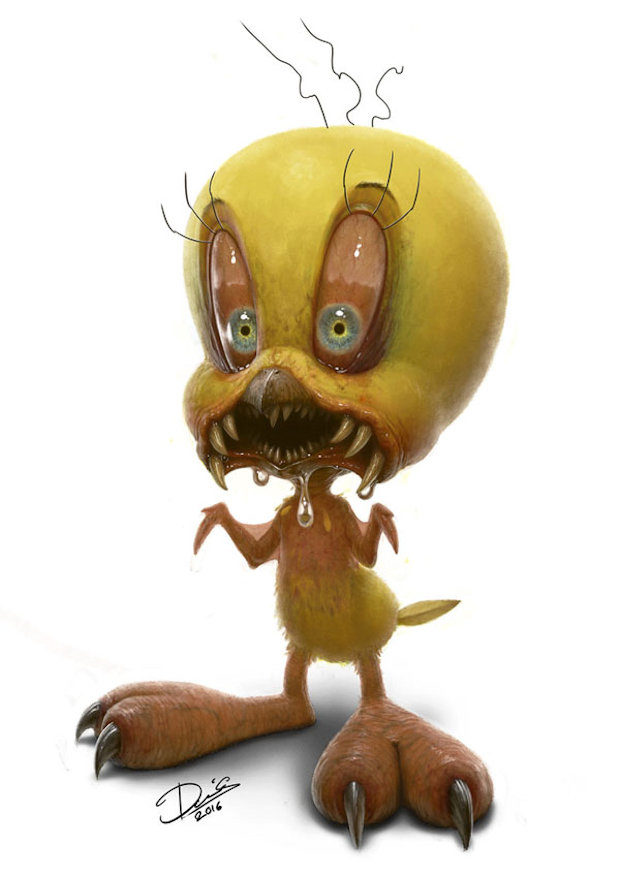 These Cute Cartoon Characters Are Now Totally Horrifying Technabob