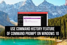 windows 10 command prompt history