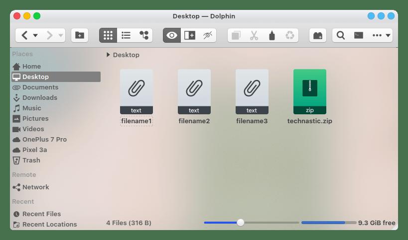 zipped files on desktop