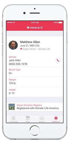 애플 헬스 앱으로 장기 기증 신청이 가능해진다