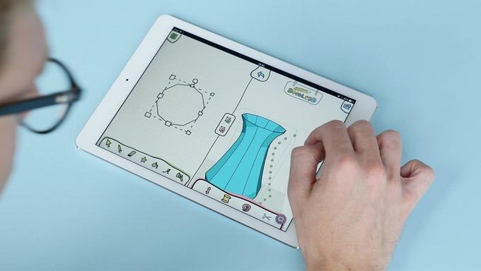 손가락 하나로 꽃병도 뚝딱! 3D 디자인 앱 'Doodle3D Transform'