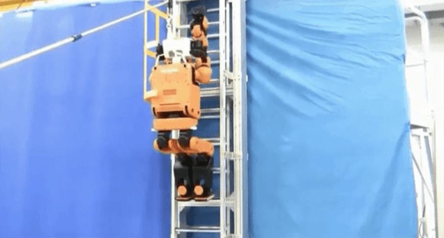 혼다, 사다리를 탈 수 있는 재난 구조용 로봇 개발