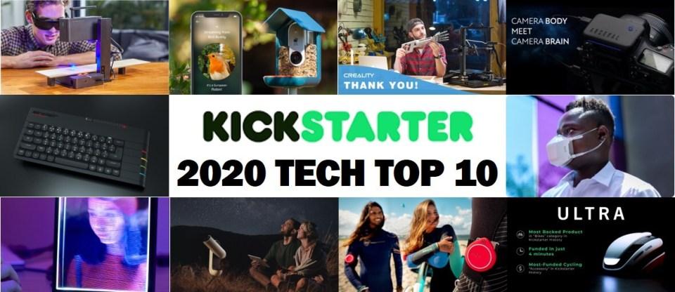2020년 킥스타터 (Kickstarter) 테크 분야 top 10