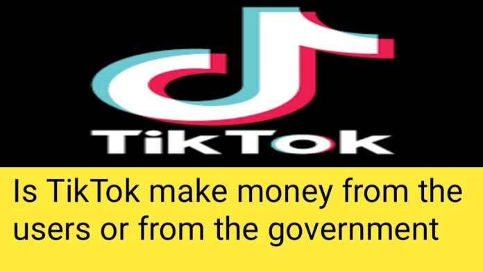 Is TikTok make money from the users or from the government