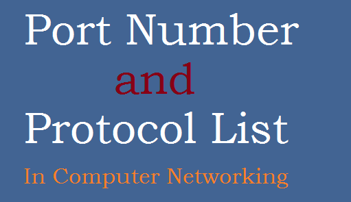 Port Number and Protocol