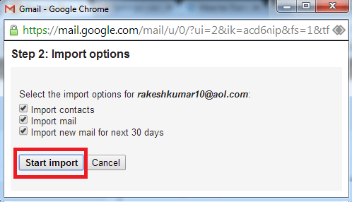 Transfer E-mails From AOL to Gmail