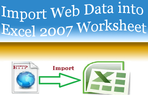 Import Web Data Into MS Excel 2007