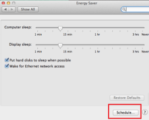 Create Schedule to Shutdown Mac OS X