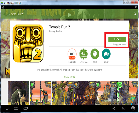 Install Temple 2 on bluestacks