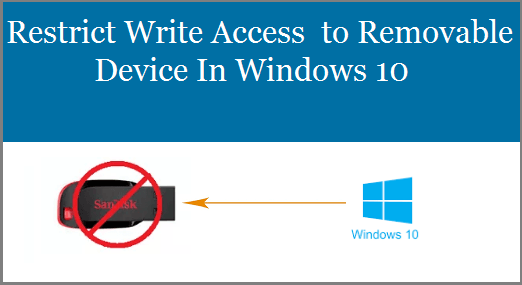 Restrict Write Access to Removable Device