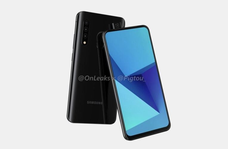Samsung smartphone with popup camera surfaces in leaked renderings
