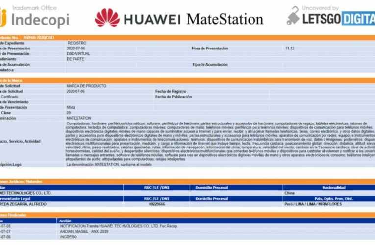 Huawei registers the MateStation brand: this could be a dock for Mate 40 phones