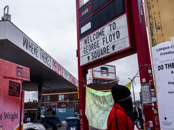 The area outside Cup Foods, where George Floyd was arrested, is now known as George Floyd Square.