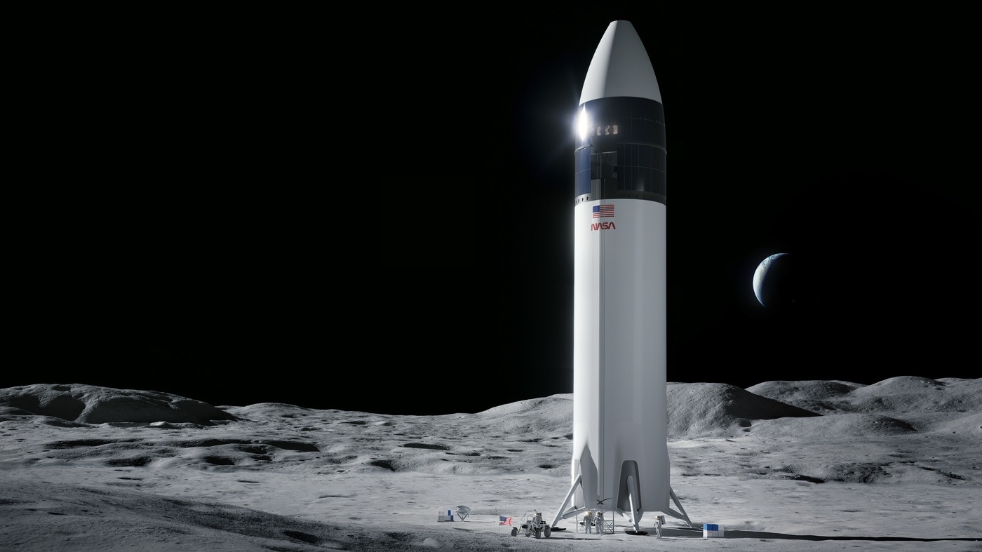 NASA Pays Elon Musk's SpaceX $2.9 Billion To Ferry Astronauts To Moon Surface : NPR