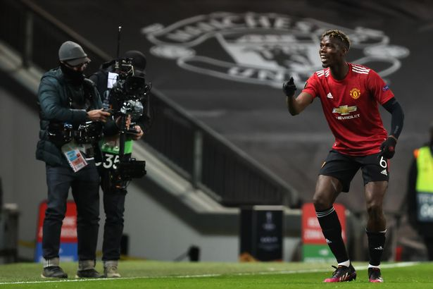 Pogba scored United's fifth goal of the game