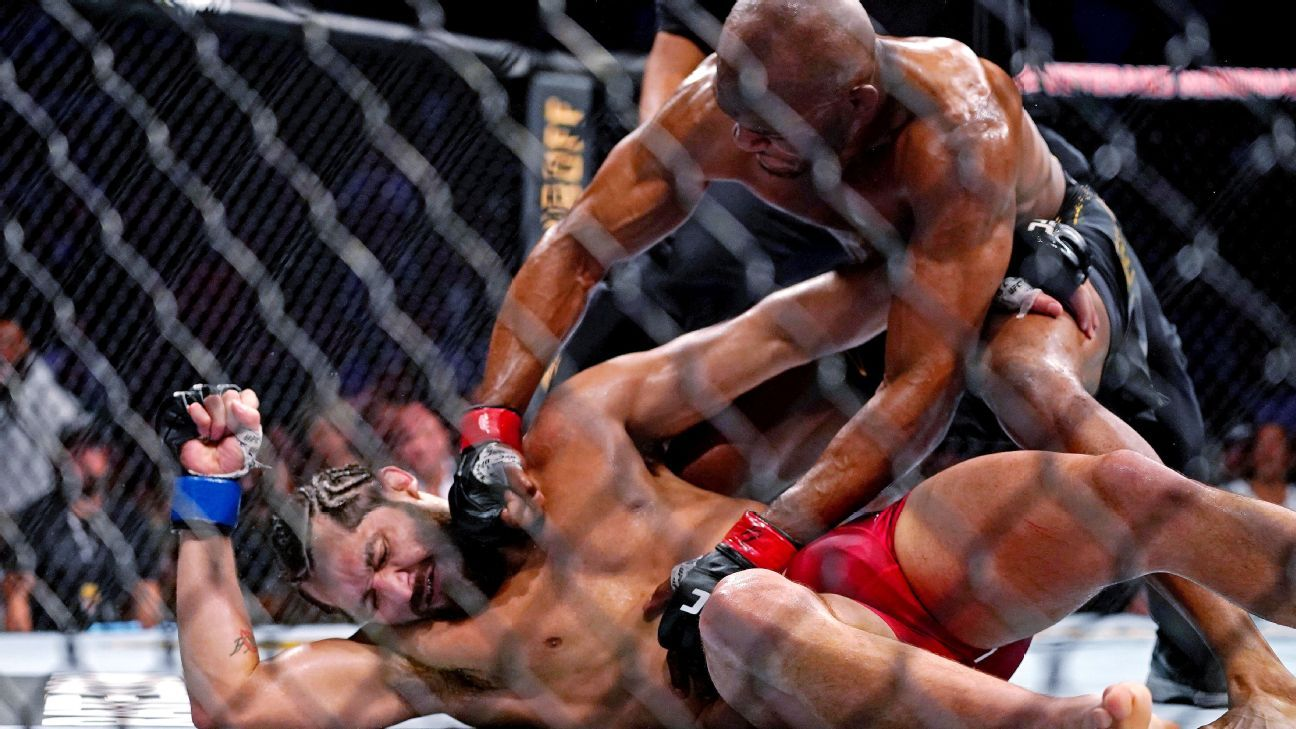 Kamaru Usman knocks out Jorge Masvidal in second round to retain UFC welterweight title