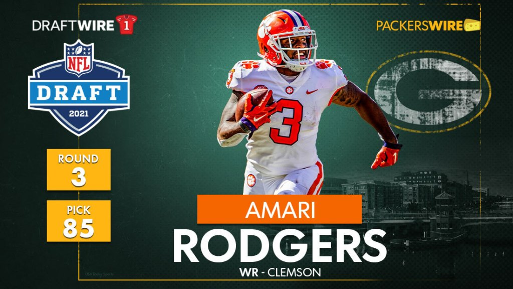Green Bay Packers select Clemson WR Amari Rodgers at No. 85 overall in 2021 draft