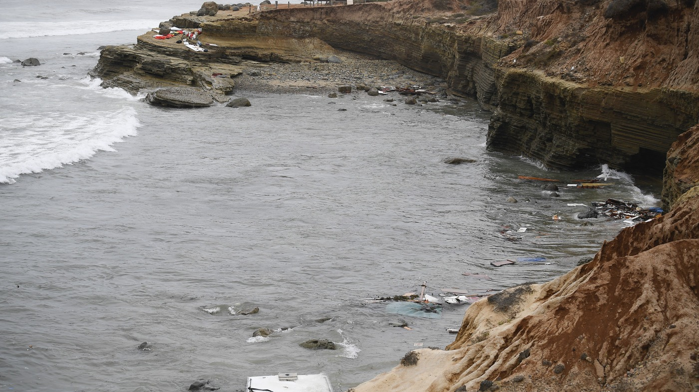 3 Dead, Dozens Injured After Suspected Smuggling Boat Capsizes Near San Diego : NPR