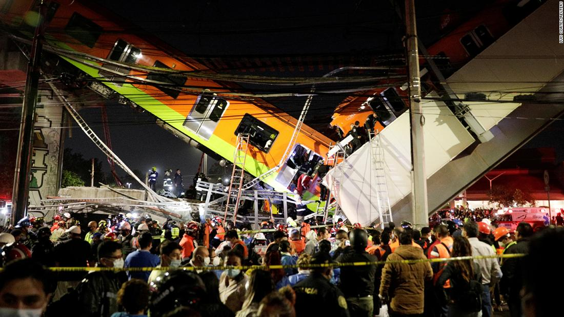 Mexico City subway overpass collapses, killing at least 23 and injuring dozens
