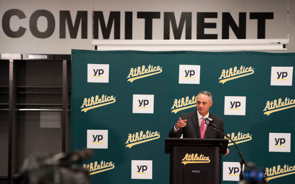 Oakland A's had longstanding offer from Rob Manfred to pressure city on new ballpark: Sources – The Athletic