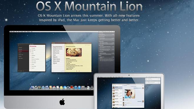 Apple release OS X 10.8 Mountain Lion