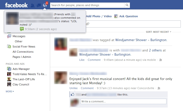 Facebook changing notifications?