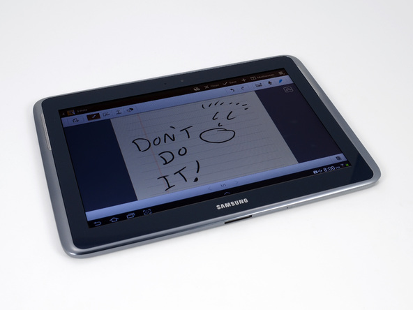 Galaxy Note 10.1 beats the new iPad in reparability