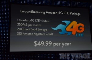 Cheap Amazon 4G LTE plan priced at $49.99 per year