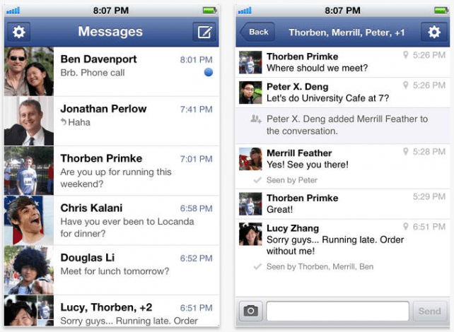 Facebook updates Facebook Messenger app for Android